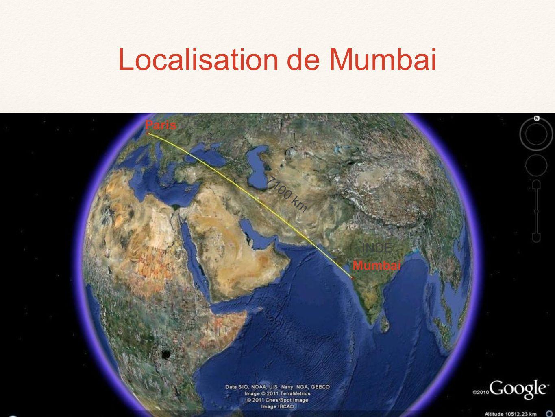 MER D'OMAN MUMBAI Navi Mumbai Vasai Alhasnagar Bhiwandi Limite de Greater Mumbai Axes de la progression urbaine ©HISTGEOGRAPHIE.COM N