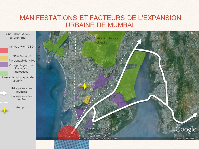 Source: Google earth Joel Newell bidonvilles Quartiers résidentiels LE BIDONVILLE DE DHARAVI: AU CŒUR DE MUMBAI