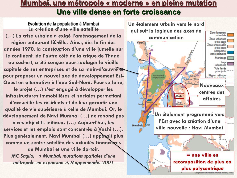 informations complémentaires La croissance de Mumbai a été frénétique et rapide.