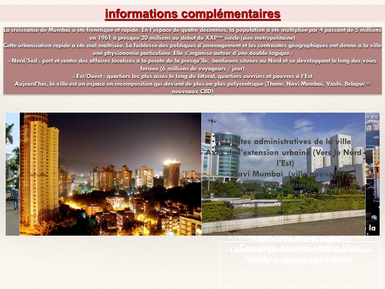 Mumbai, une métropole « moderne » en pleine mutation Une ville mondialisée.