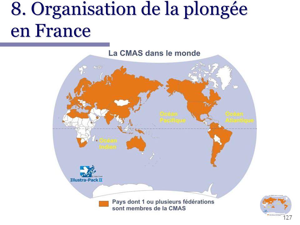127 8. Organisation de la plongée en France