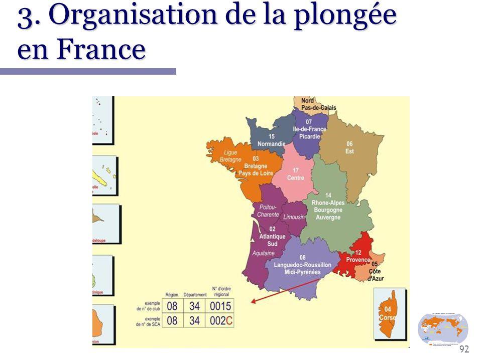 92 3. Organisation de la plongée en France