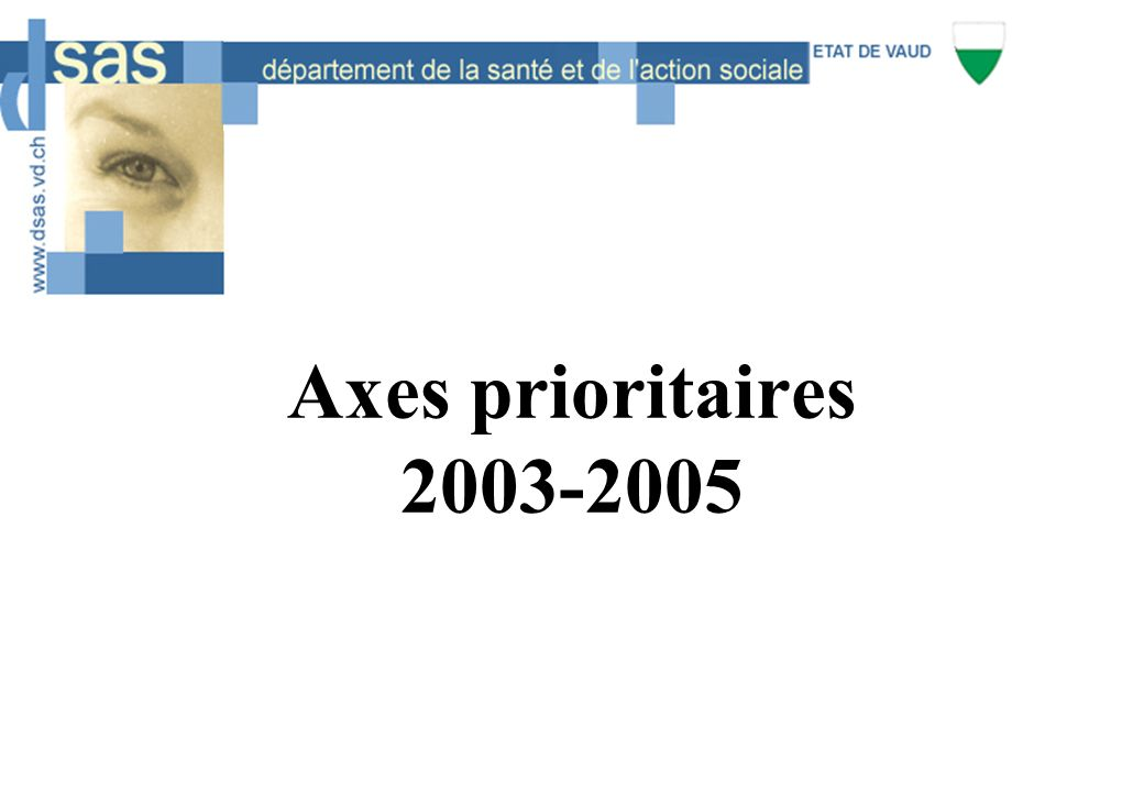 Axes prioritaires 2003-2005
