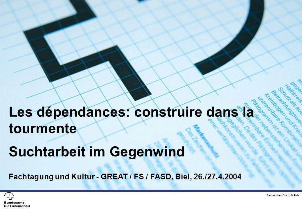 Les dépendances: construire dans la tournement Suchtarbeit im Gegenwind Fachtagung Great / FS /FASD Biel, 28./29.4. 2004 Les dépendances: construire d