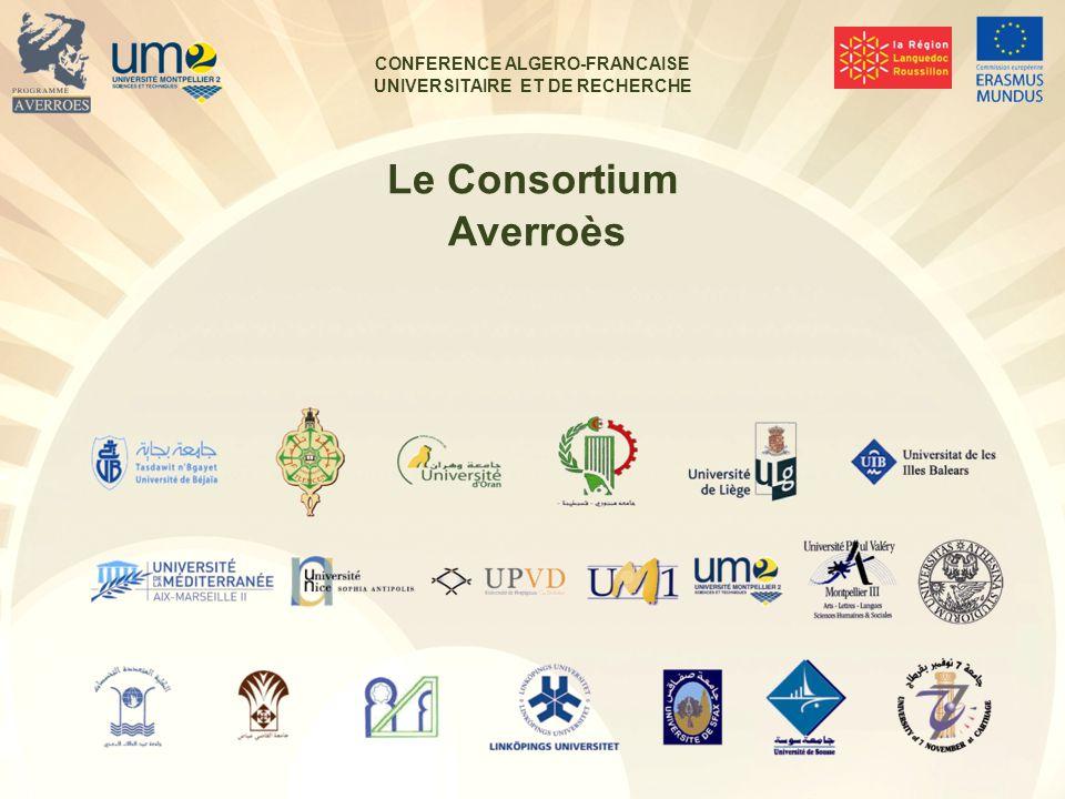 CONFERENCE ALGERO-FRANCAISE UNIVERSITAIRE ET DE RECHERCHE Le Consortium Averroès