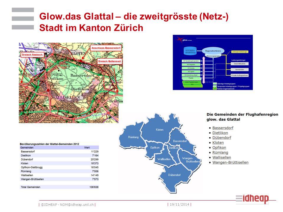 | ©IDHEAP - NOM@idheap.unil.ch | | 19/11/2014 | Glow.das Glattal – die zweitgrösste (Netz-) Stadt im Kanton Zürich