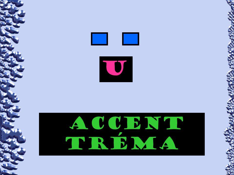 Accent trÉma aeiou