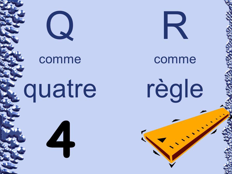 Q comme quatre R comme règle 4