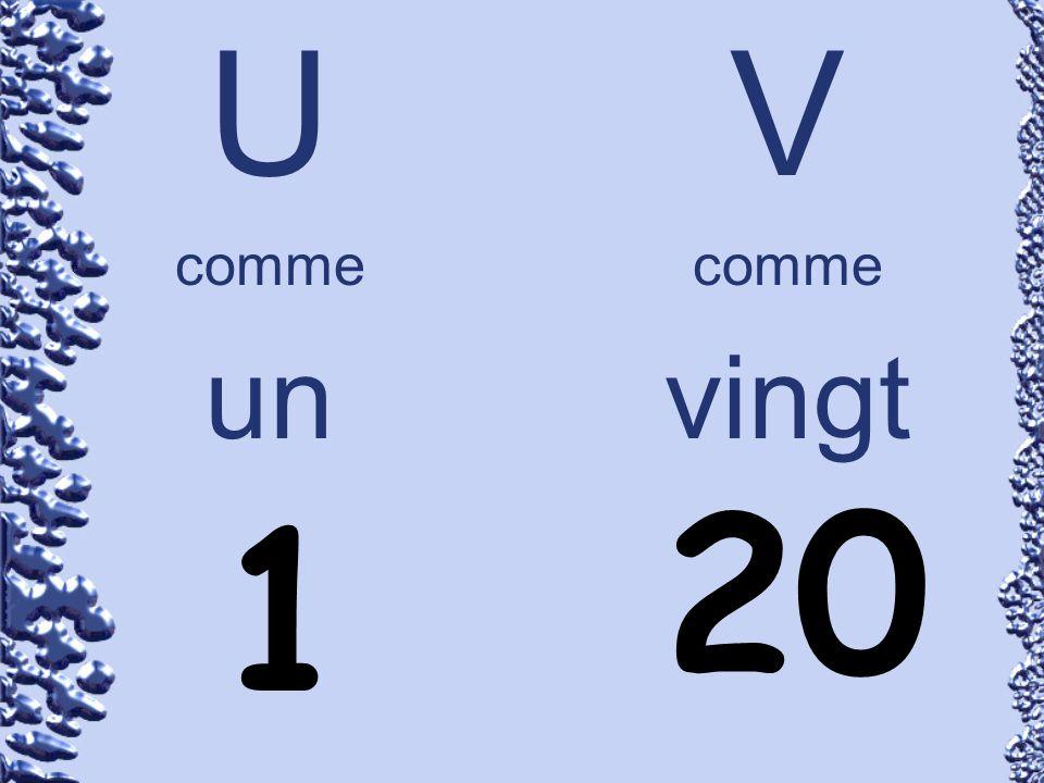 U comme un V comme vingt 1 20