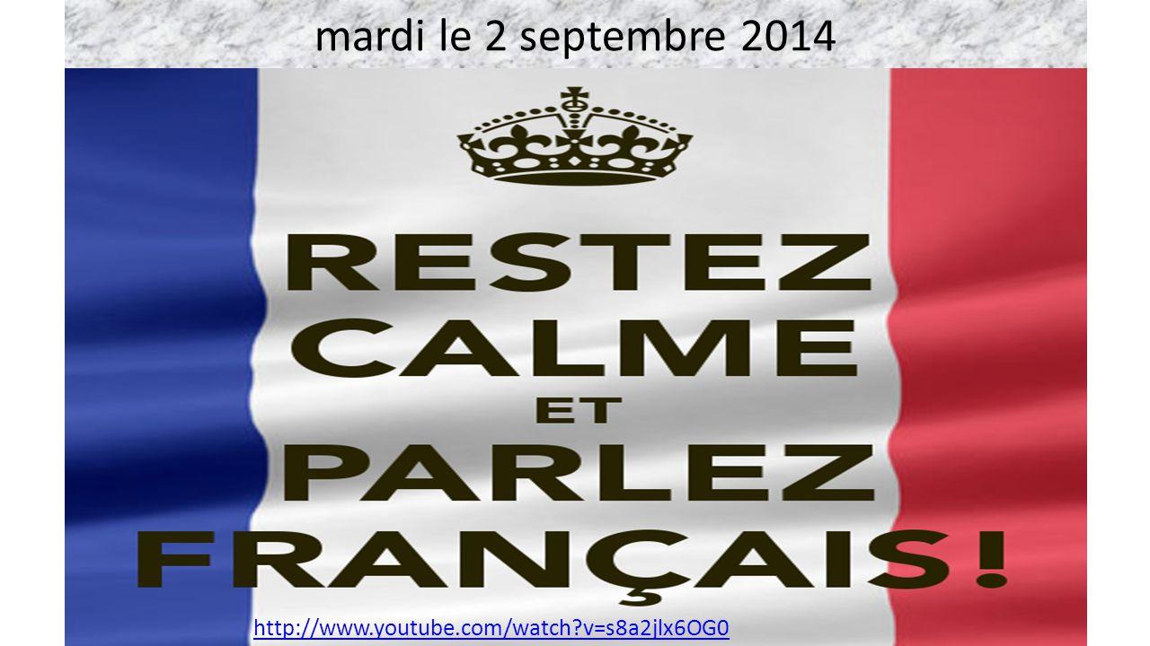 mardi le 2 septembre 2014 Tete a tete http://www.youtube.com/watch?v=s8a2jlx6OG0