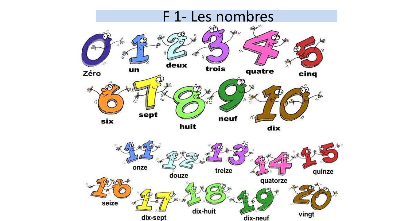 F 1- Les nombres