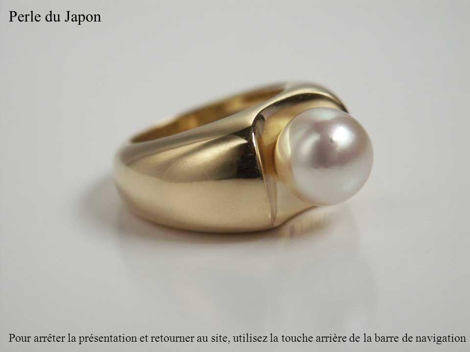 Perle du Japon Pour arrêter la présentation et retourner au site, utilisez la touche arrière de la barre de navigation