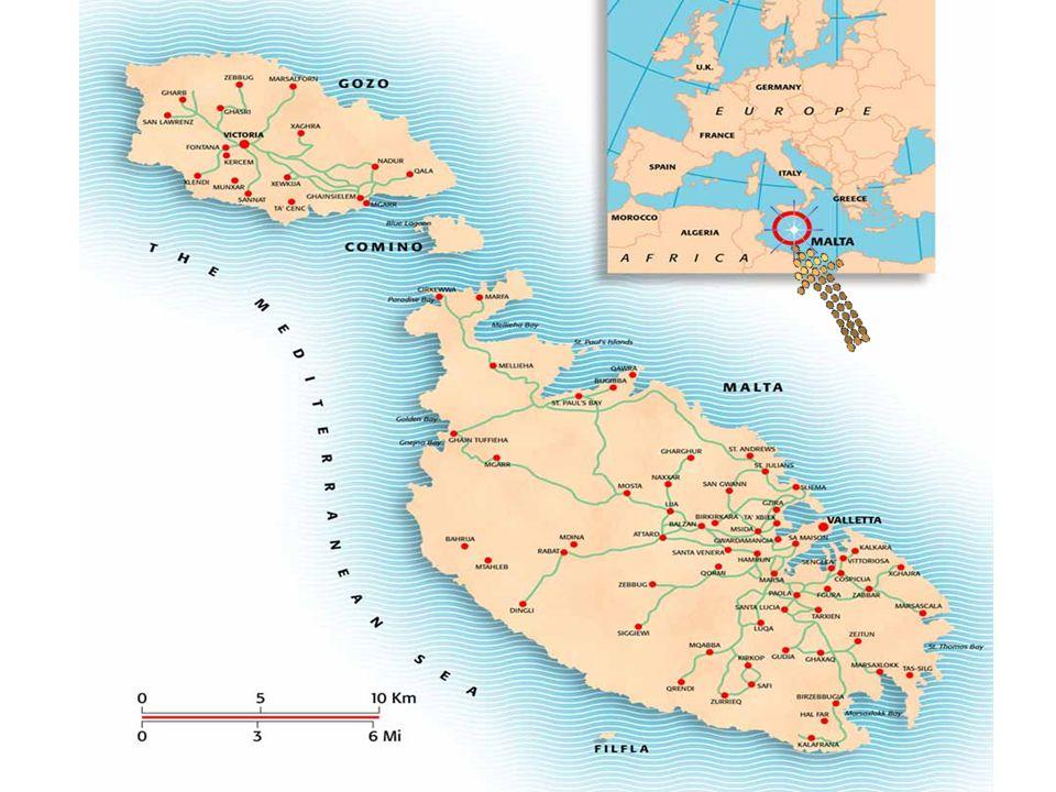 La Géographie de Malte est dominé par l eau.