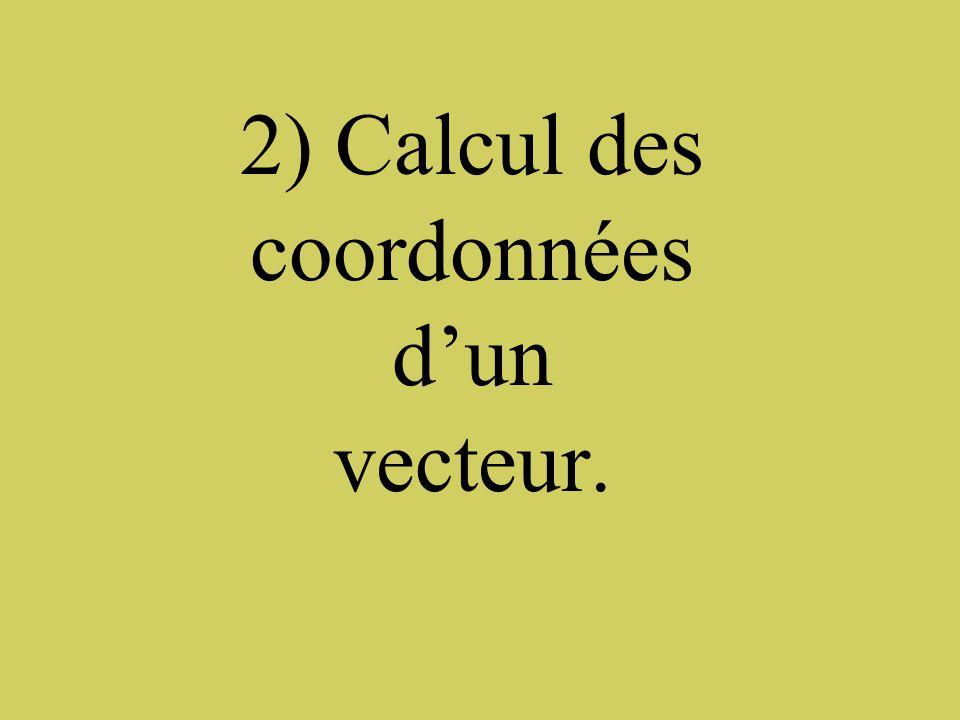 Exercice: Calcule les coordonnées du vecteur