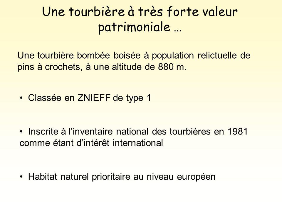 Classée en ZNIEFF de type 1 Inscrite à l'inventaire national des tourbières en 1981 comme étant d'intérêt international Habitat naturel prioritaire au