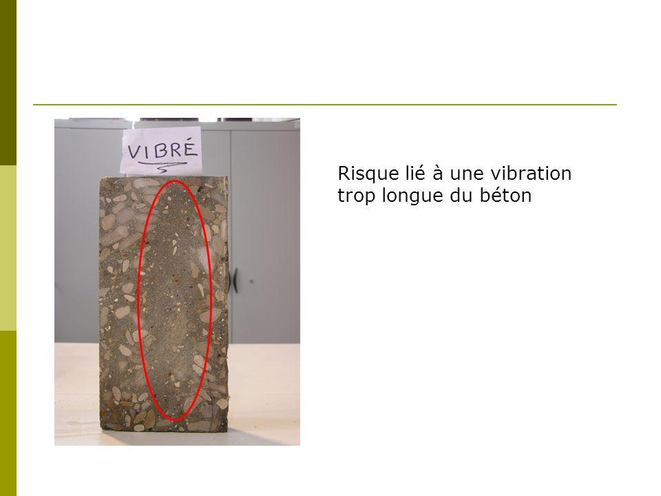 Risque lié à une vibration trop longue du béton