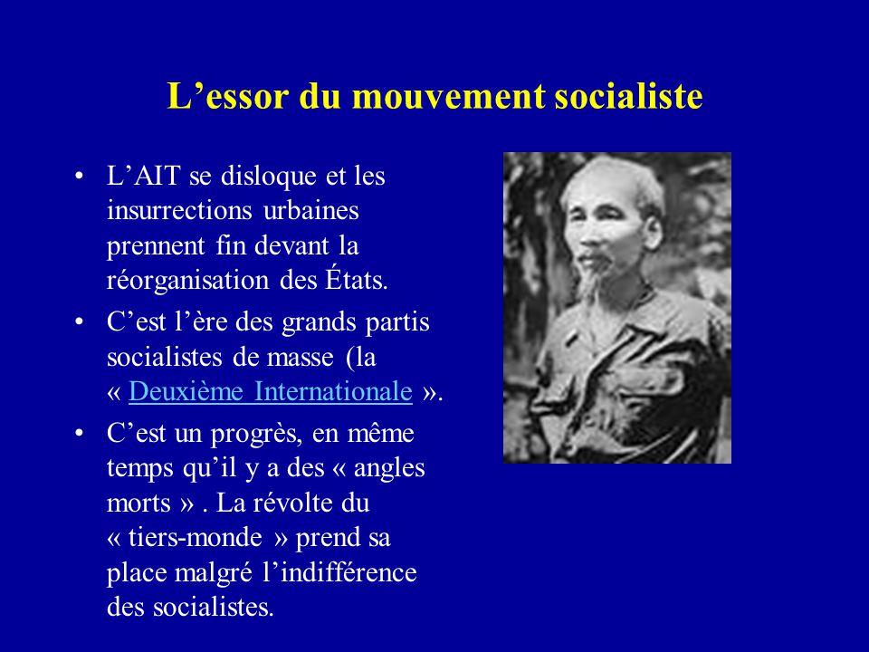 L'essor du mouvement socialiste L'AIT se disloque et les insurrections urbaines prennent fin devant la réorganisation des États.