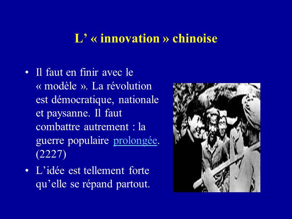 L' « innovation » chinoise Il faut en finir avec le « modèle ».