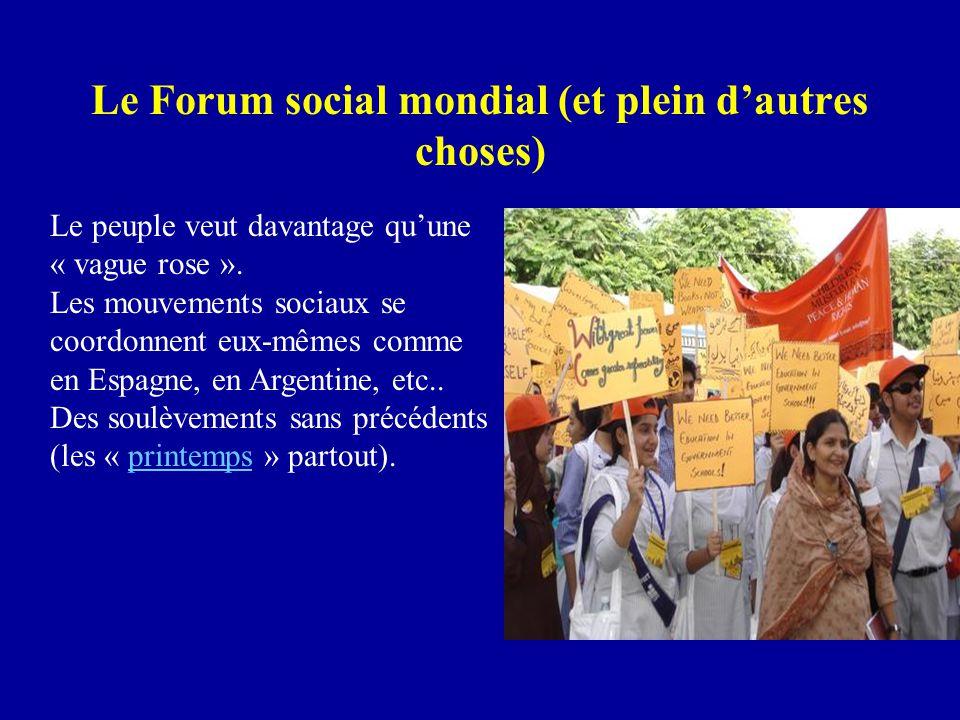 Le Forum social mondial (et plein d'autres choses) Le peuple veut davantage qu'une « vague rose ».
