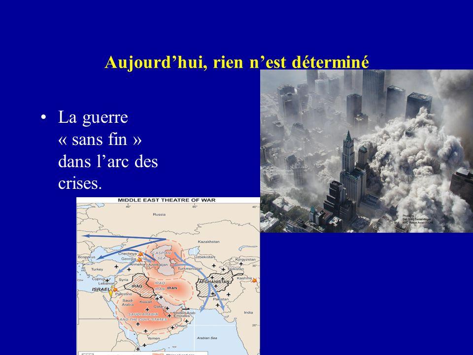 Aujourd'hui, rien n'est déterminé La guerre « sans fin » dans l'arc des crises.