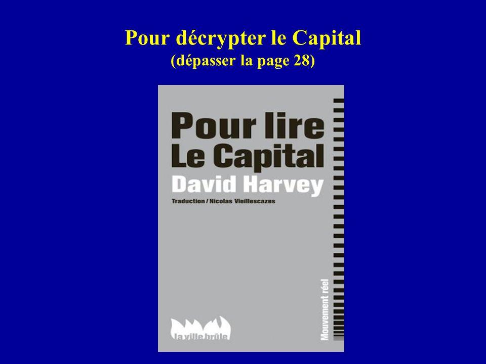 Pour décrypter le Capital (dépasser la page 28)