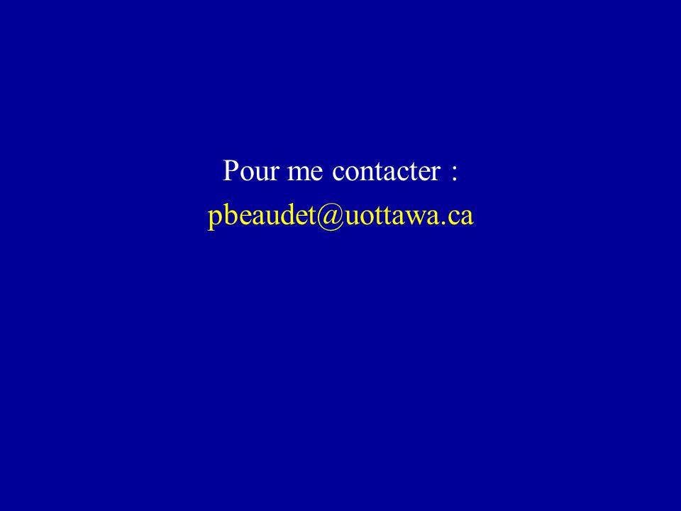 Pour me contacter : pbeaudet@uottawa.ca
