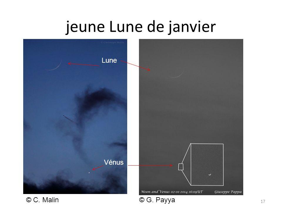 jeune Lune de janvier 17 © C. Malin© G. Payya Lune Vénus