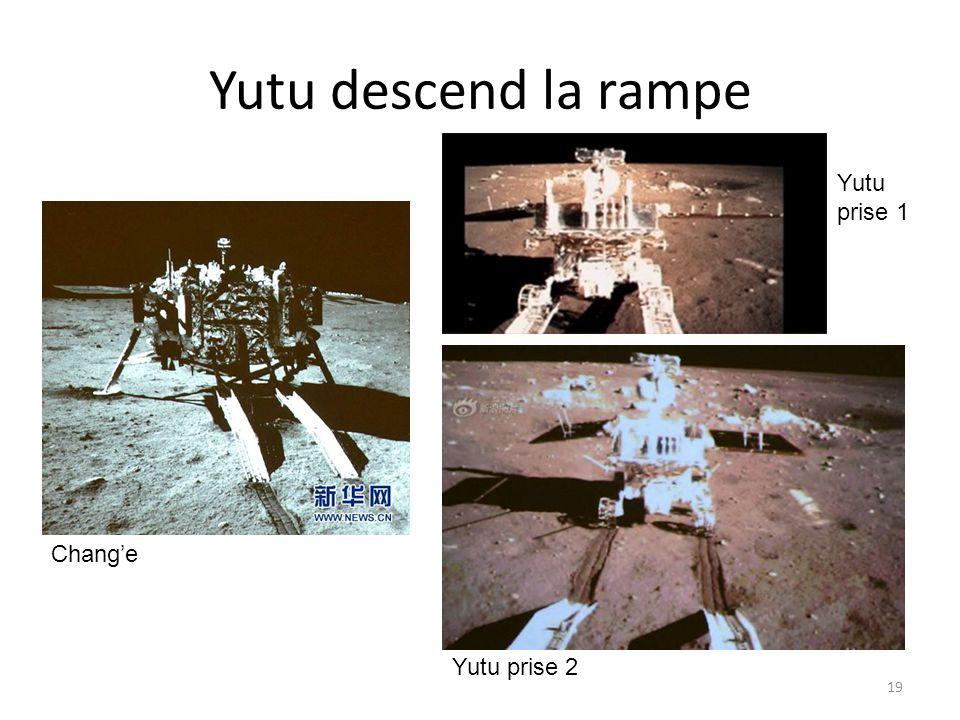Yutu descend la rampe 19 Chang'e Yutu prise 1 Yutu prise 2