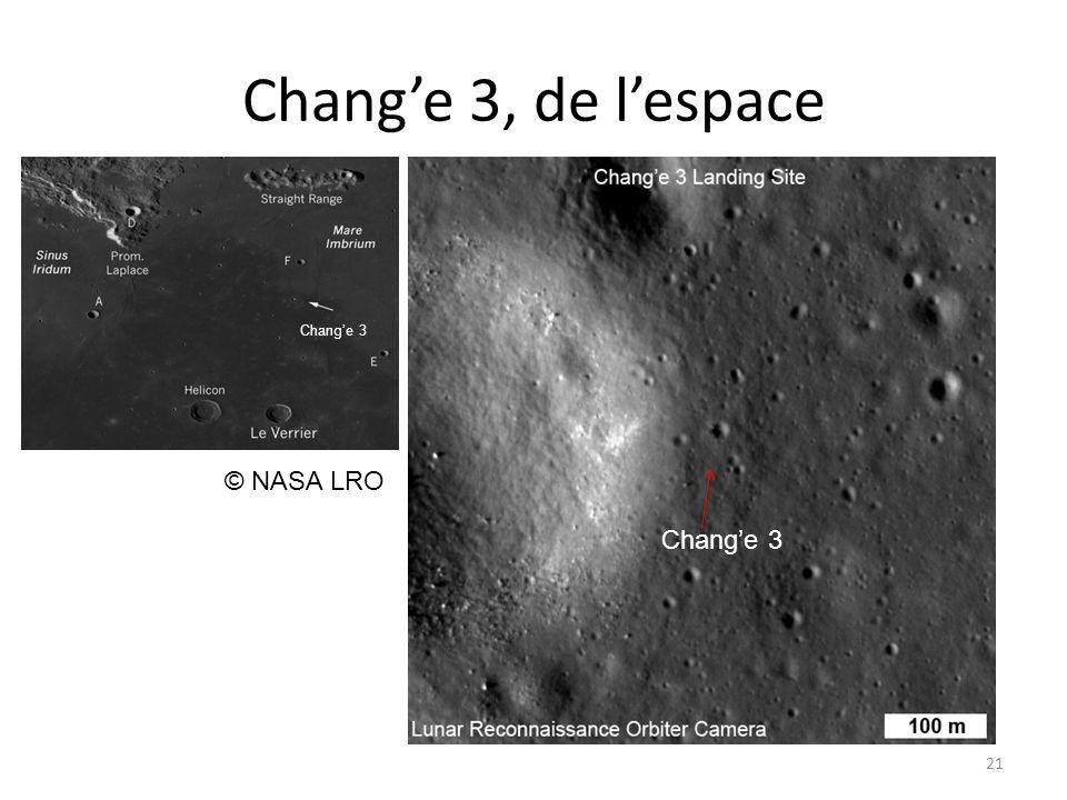 Chang'e 3, de l'espace 21 © NASA LRO Chang'e 3