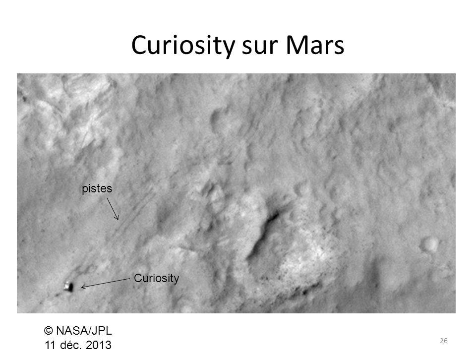 Curiosity sur Mars 26 © NASA/JPL 11 déc. 2013 Curiosity pistes