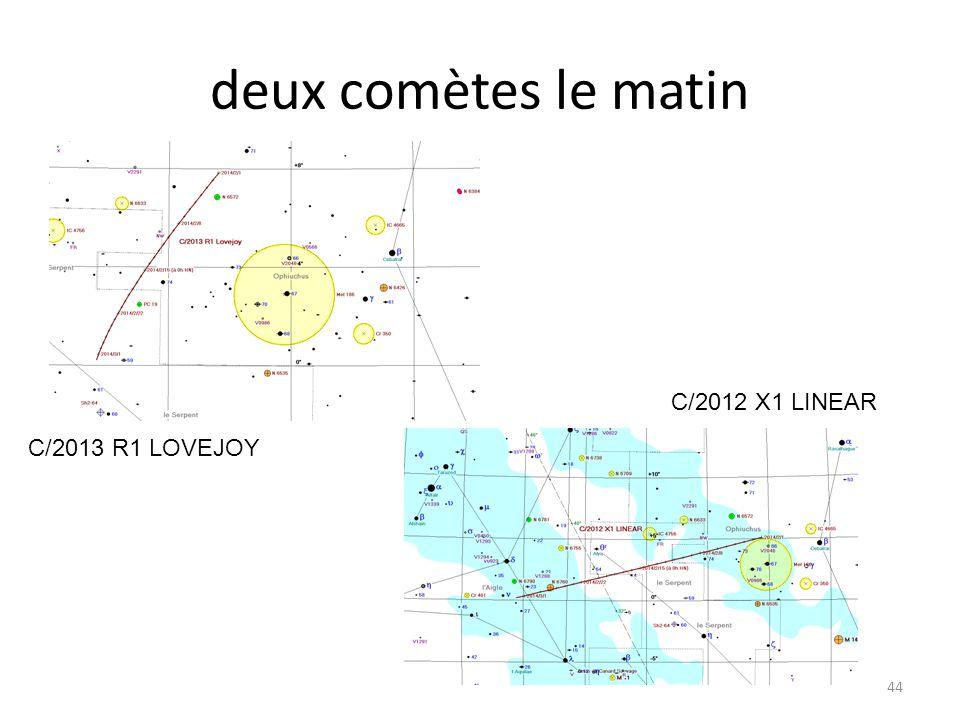 deux comètes le matin 44 C/2013 R1 LOVEJOY C/2012 X1 LINEAR