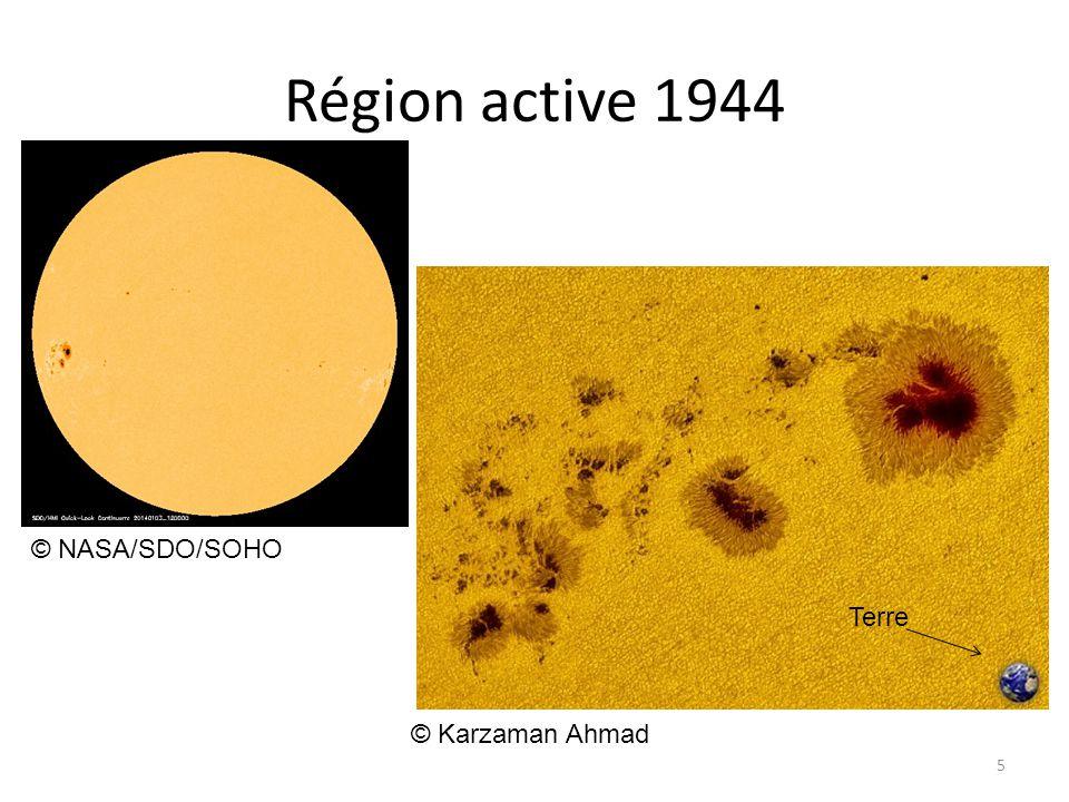 Région active 1944 5 © NASA/SDO/SOHO Terre © Karzaman Ahmad