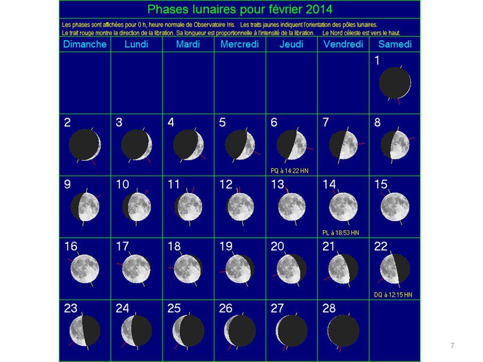 Lune et Mercure 8 petit croissant Mercure Le samedi 1er février