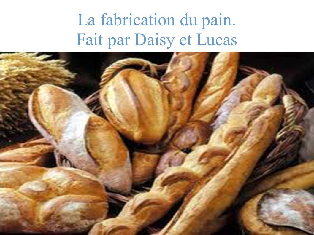 Plan 1) Les ingrédients 2) Les fours et les machines qui servent à faire du pain.