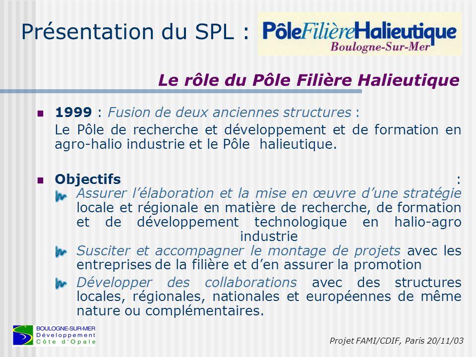 Présentation du SPL : Une présence forte de la formation (3 établissements spécialisés) et de la recherche et développement (5 centres).