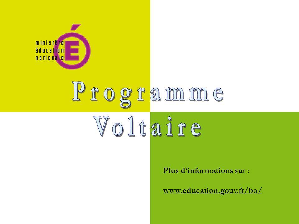 Plus d'informations sur : www.education.gouv.fr/bo/