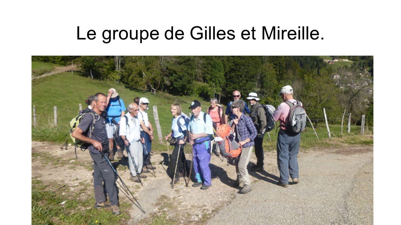 Le groupe de Gilles et Mireille.