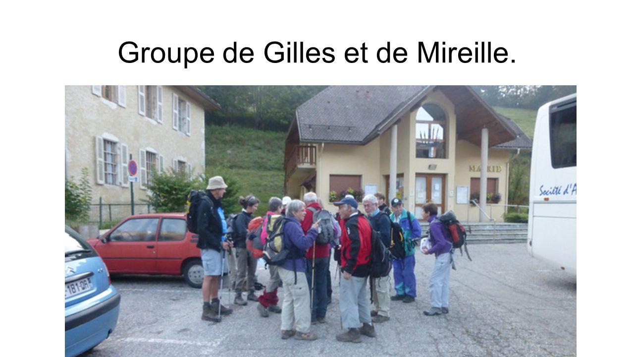 Groupe de Gilles et de Mireille.