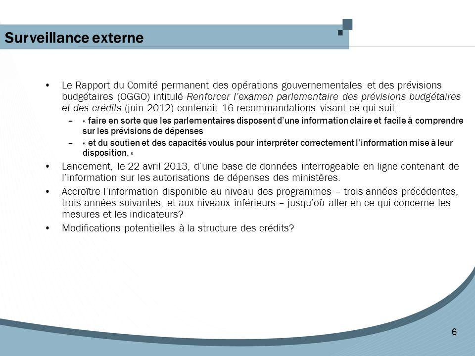 Le Rapport du Comité permanent des opérations gouvernementales et des prévisions budgétaires (OGGO) intitulé Renforcer l'examen parlementaire des prév