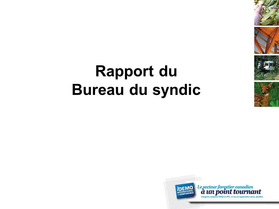 Rapport du Bureau du syndic