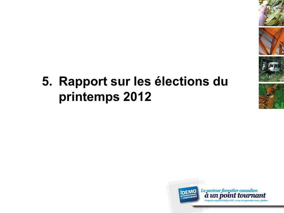5.Rapport sur les élections du printemps 2012