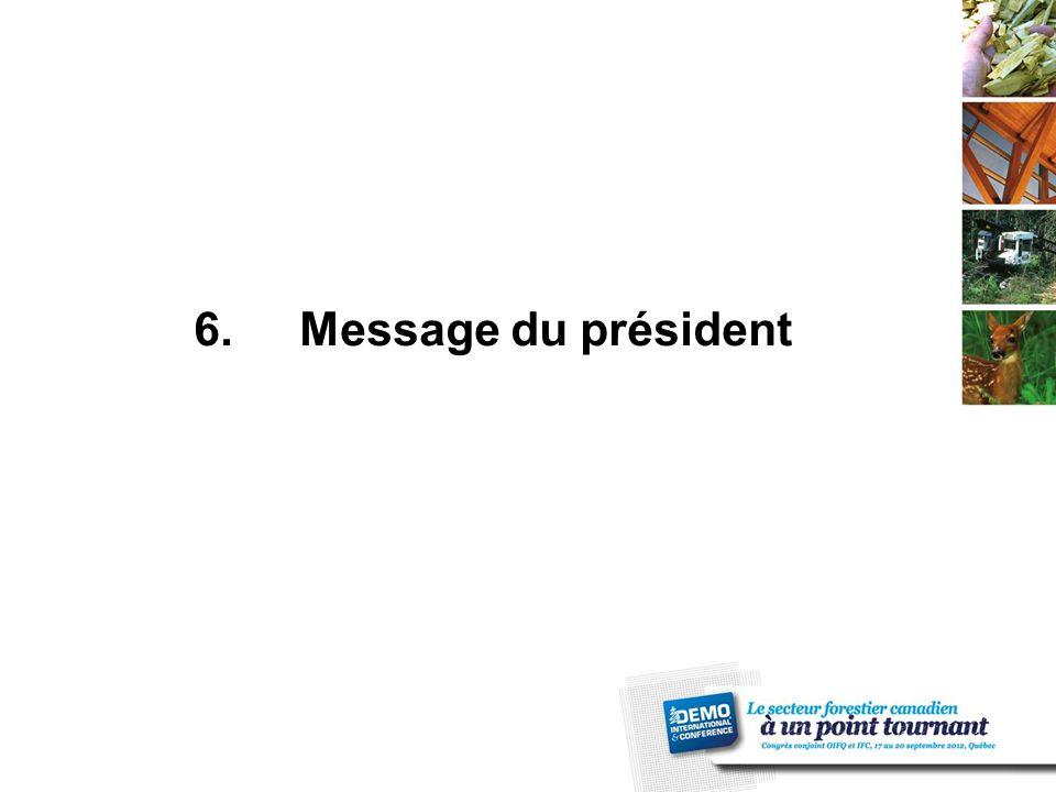 6.Message du président