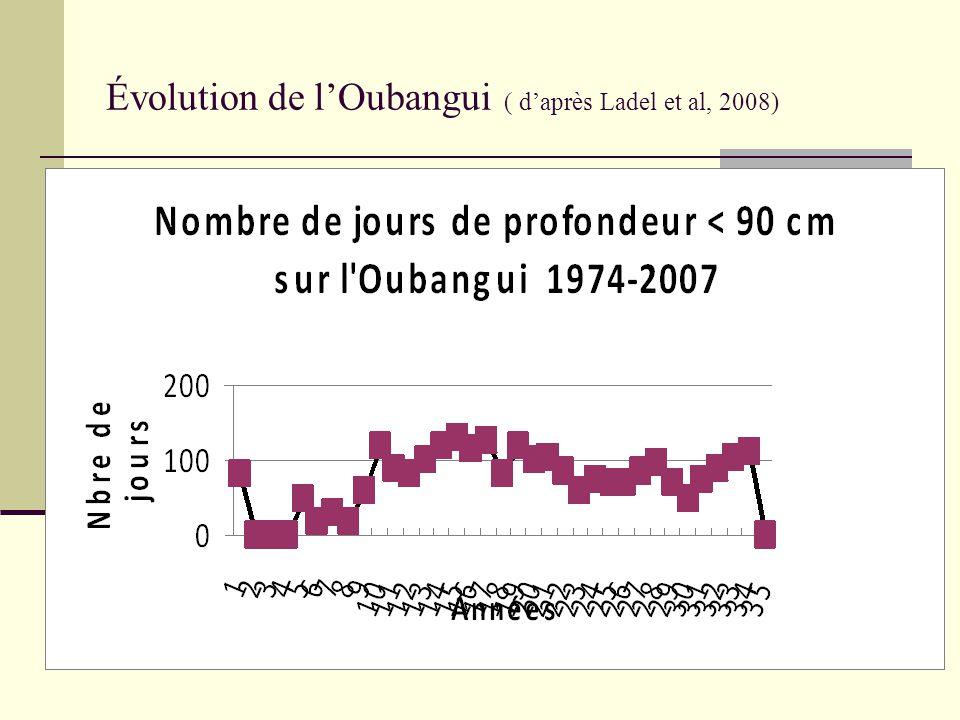 Évolution de l'Oubangui ( d'après Ladel et al, 2008)