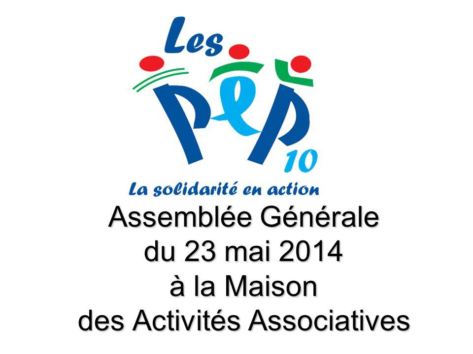 Assemblée Générale du 23 mai 2014 à la Maison des Activités Associatives