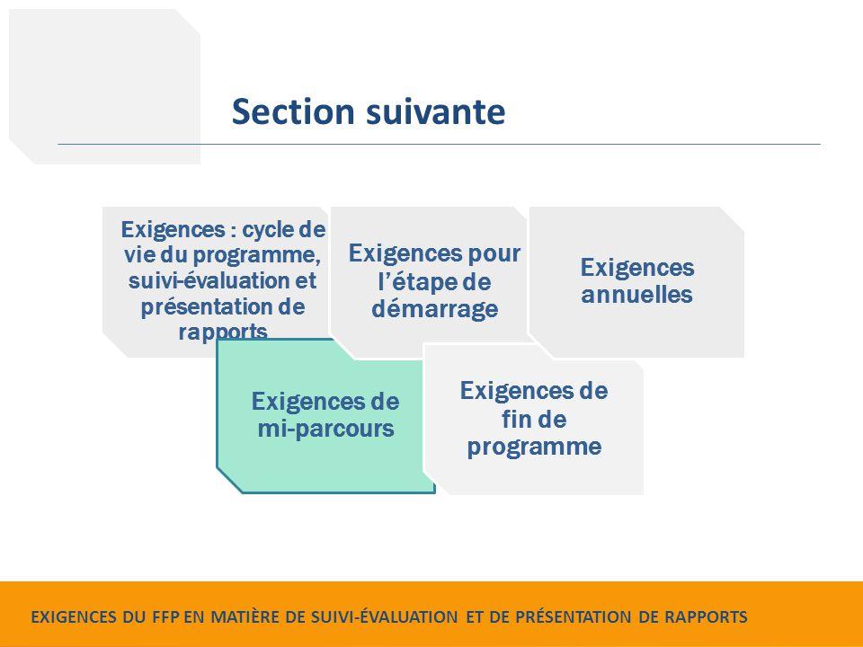 Food for Peace Monitoring, Evaluation and Reporting Requirements Exigences : cycle de vie du programme, suivi-évaluation et présentation de rapports E