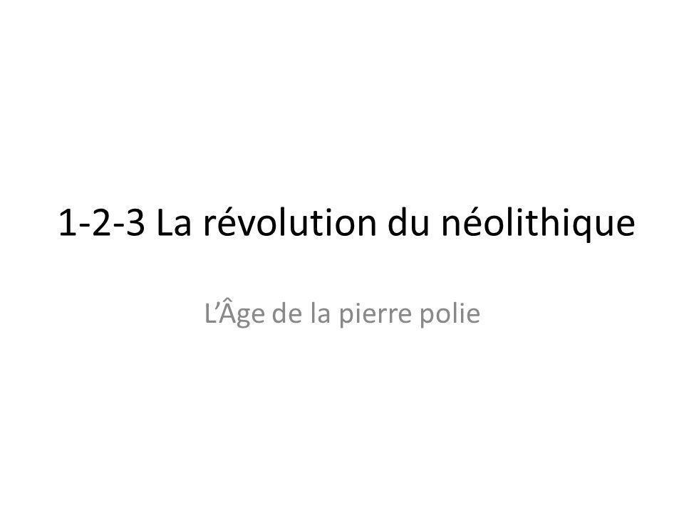 1-2-3 La révolution du néolithique L'Âge de la pierre polie