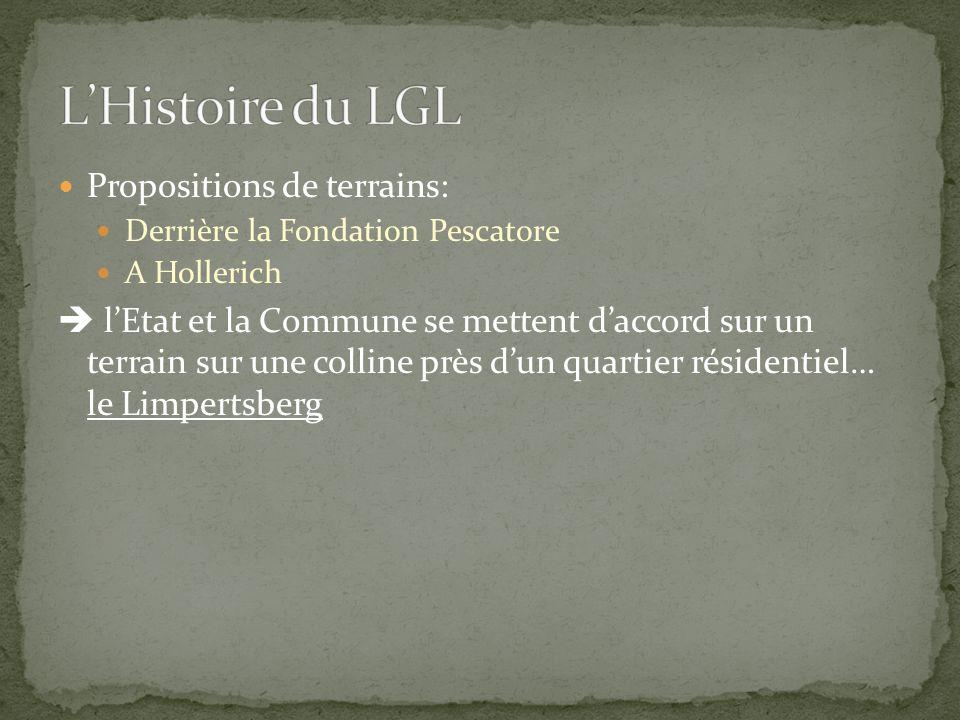 Propositions de terrains: Derrière la Fondation Pescatore A Hollerich  l'Etat et la Commune se mettent d'accord sur un terrain sur une colline près d