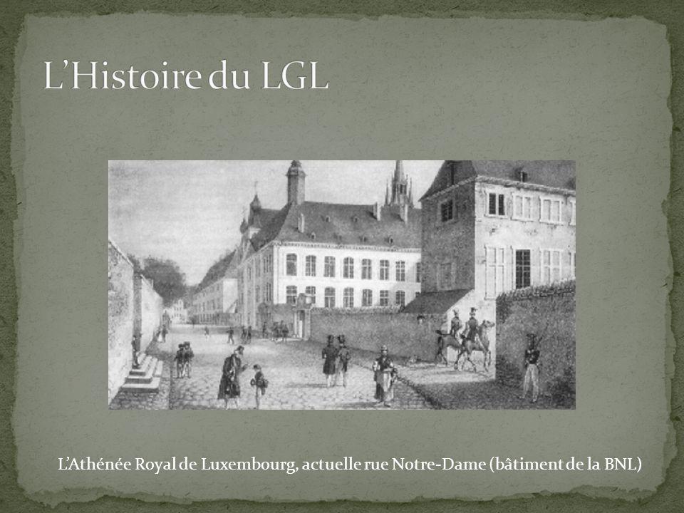 L'Athénée Royal de Luxembourg, actuelle rue Notre-Dame (bâtiment de la BNL)