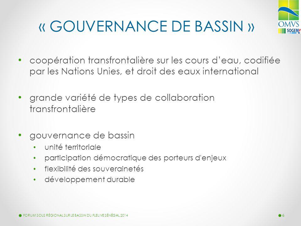 « GOUVERNANCE DE BASSIN » coopération transfrontalière sur les cours d'eau, codifiée par les Nations Unies, et droit des eaux international grande var