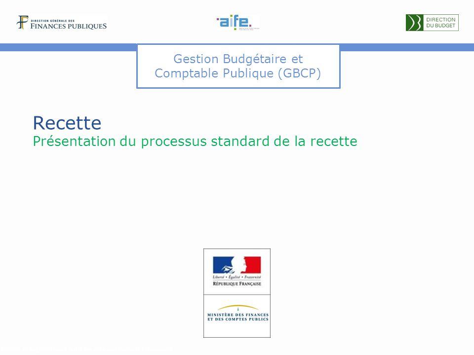 Gestion Budgétaire et Comptable Publique (GBCP) Recette Présentation du processus standard de la recette Détails et explicitations dans les commentair